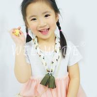 One-Piece Elastic Waist Design Summer Dress For Little Girl Wellwide W0403