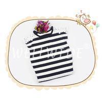 Age 2-7 yrs Girl's Custom Cotton Stripe Summer Tops Wellwide W0412